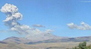 Volcán Sabancaya presenta ligero incremento en su actividad eruptiva