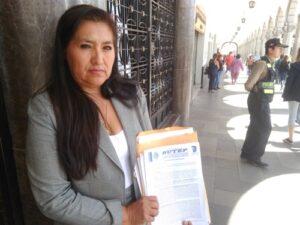 """Secretaria provincial del Sutep: """"No quieren que sea reelegida en el cargo"""""""