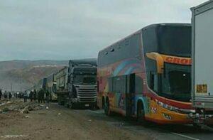 Sindicato de Choferes critica al gobierno por lentitud en arreglar vía en Atico