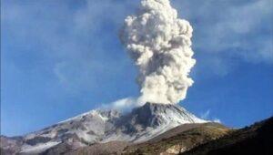 Nueva alerta por explosión y caída de ceniza del volcán Sabancaya