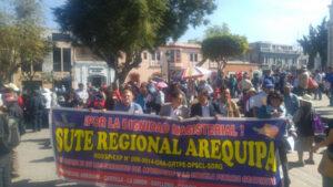 Maestros en huelga rechazaron mensaje a la Nación de Pedro Pablo Kuczynski
