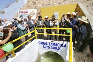 Mejora de canal de Zamácola beneficiará a 2 mil 500 hectáreas de cultivo
