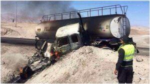 Dos muertos por choque en Panamericana Sur