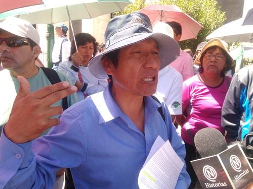 Dirigente del SUTE, Walter Andía.