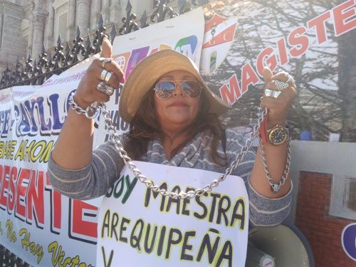 Protesta de docentes.