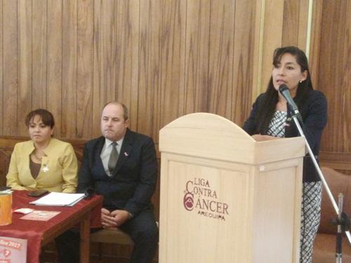 Gerente de la Liga Peruana de Lucha Contra el Cáncer, Sandra García.