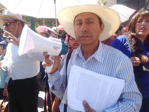 Secretario provincial del SUTE, Luis Deza.