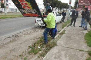 Se retirarán carteles publicitarios ilegales en Cerro Colorado