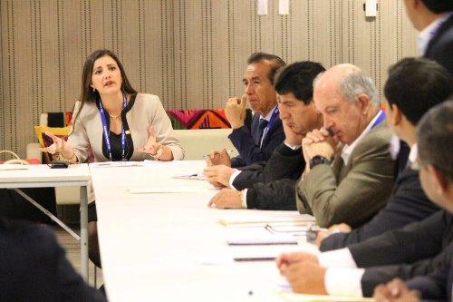 Yamila Osorio en reuniones del GORE.
