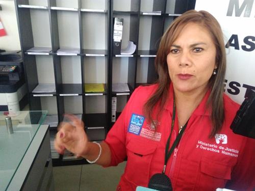 Directora general de Defensa Civil y Acceso a la Justicia, Elena Villegas.