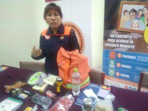 Promueven mochila de emergencia familiar en caso de sismo