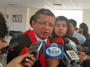 """(AUDIO) Presidente de la Corte rechaza """"arreglos"""" en procesos de Alfredo Zegarra"""