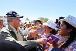 FOTOS. Kuczynski dio inicio a construcción de puente en la vía Arequipa – La Joya