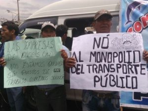 SIT: Transportistas platearán la cancelación de la licitación