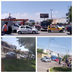 Tráfico vehicular por inicio de trabajos del intercambio vial Av. Cáceres