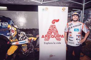 Sebastián Cavallero lleva la marca Arequipa en el Rally Dakar 2018 que llega esta semana