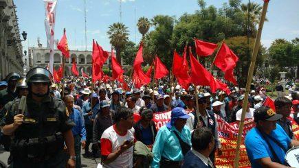 Trabajadores de Arequipa saldrán en marcha el 19 de julio contra la corrupción