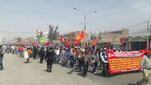 Obreros realizaron marcha de sacrificio en contra de indulto a Fujimori