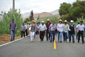 Se inauguró primera etapa de carreteraPuntaColorada-Sahuaní