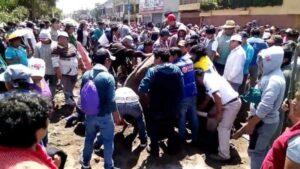 Caos y violencia se vivió por obras en Avelino Cáceres