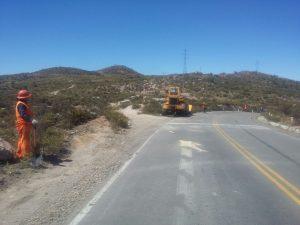 Realizan mantenimiento de carretera al Santuario de la Virgen de Chapi