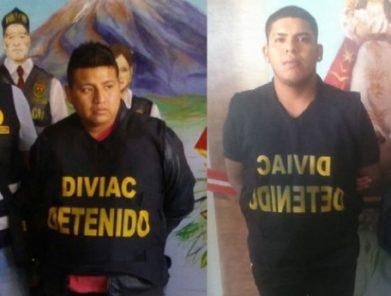 Arequipa: Policía detiene a dos presuntos 'marcas' en puerta de hotel
