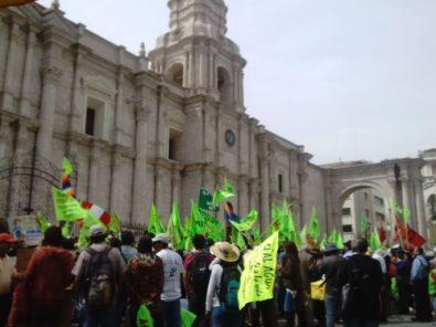 Audiencias contra dirigentes del Valle de Tambo no serían en Arequipa