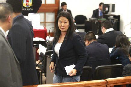 ACT. Tensión en la sala de audiencia del juez Carhuancho por caso de Keiko Fujimori