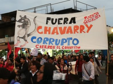 Marchas contra Chávarry en Arequipa