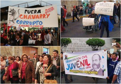En nutrida protesta Arequipa pide salida del Fiscal de la Nación, Pedro Chávarry (Fotos y Video)