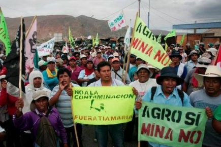 Dirigentes del valle de Tambo serían enjuiciados por protestas contra Tía María