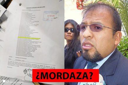 Arequipa: ¿Alcalde Omar Candia prohibió declarar a los funcionarios de la municipalidad?
