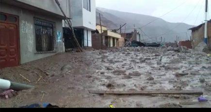 Arequipa: Aplao en emergencia por ingreso de huaicos y lluvias torrenciales (VIDEO y FOTOS)