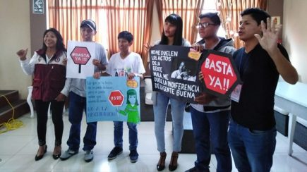 Organizaciones juveniles y civiles expresan apoyo a vigía Elena Viza