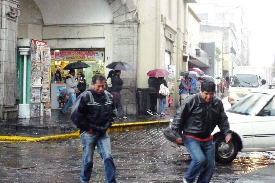 lluvias en arequipa plaza de armas