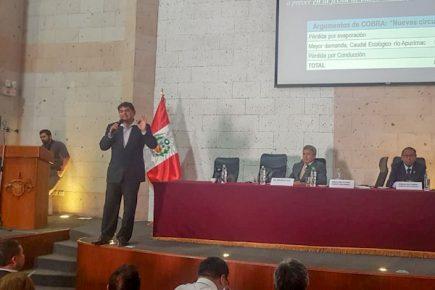 Cobra no entablaría juicio en caso no se firme Adenda 13, de proyecto Majes Siguas II