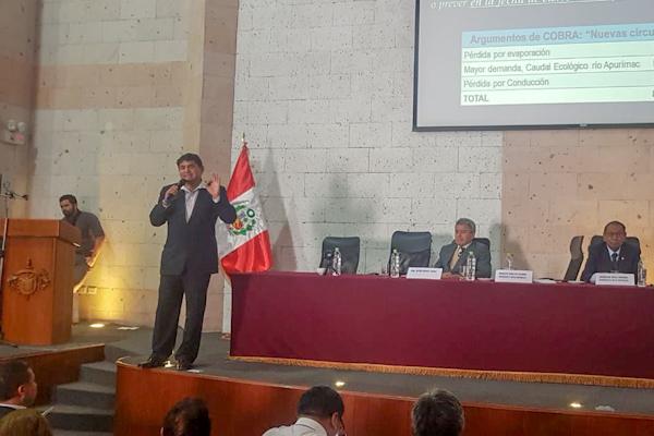 Arequipa: Cobra no entablará juicio en caso no se firme Adenda 13, según congresista Zeballos