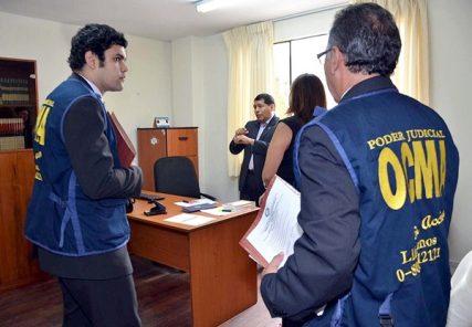 OCMA en visita inspectiva a la Corte Superior