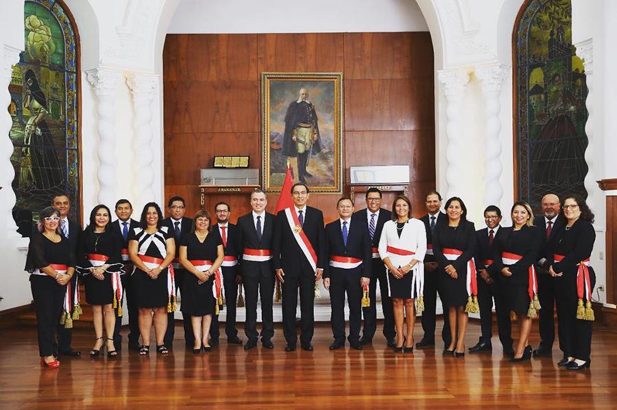Salvador Del Solar y nuevo gabinete de ministros juramentaron
