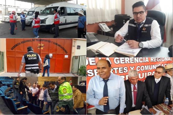 Arequipa gerencia regional de transportes minivans sindicato trabajadores gerente composición