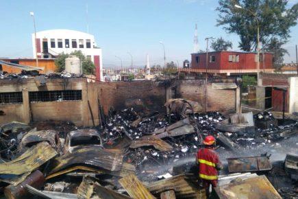 Así quedaron las instalaciones del Gobierno Regional tras incendio de esta madrugada (FOTOS y VIDEO)