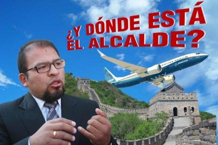 Omar Candia viajó a China a pesar que evento al que fue invitado se canceló