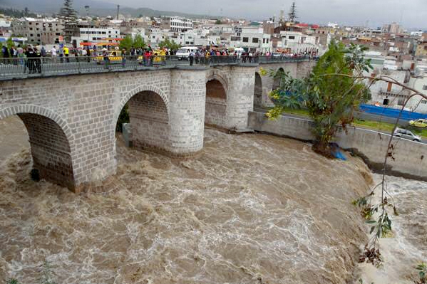 Arequipa senamhi alerta temprana rio chili lluvias