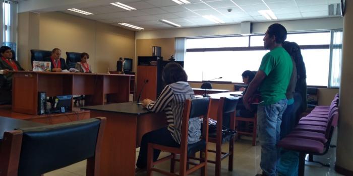 Audiencia del juicio oral al juez Gino Valdivia