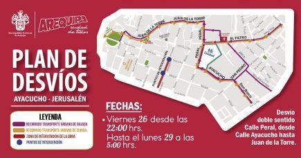 Municipalidad de Arequipa cerrará la calle Ayacucho por cuarta vez