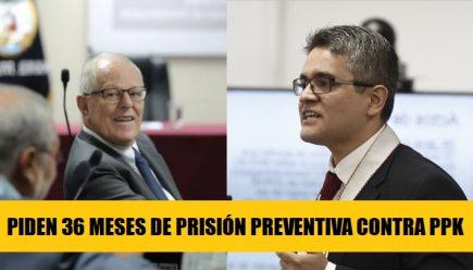 Fiscalía pide 36 meses de prisión preventiva contra Pedro Pablo Kuczynski