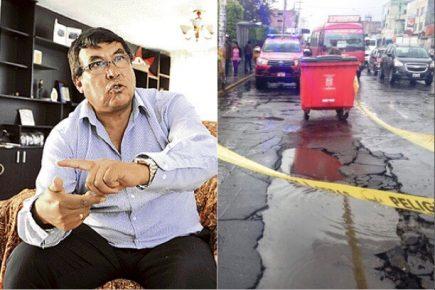 Alcalde de Miraflores denuncia perjuicio de 19 millones por obras de Sedapar