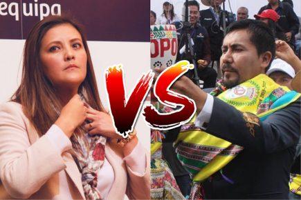 Yamila Osorio y Elmer Cáceres enfrentados por denuncias contra gestión anterior