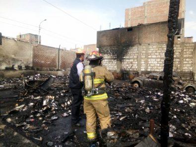 Sospechosos del incendio en el almacén en el GRA no colaboran con investigación