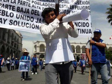 Fredipap realiza marcha popular para exigir construcción de planta de tratamiento